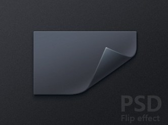 Dark Paper Flip Effect PSD