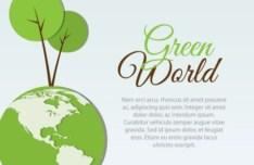 Green World Concept Illustration Vector