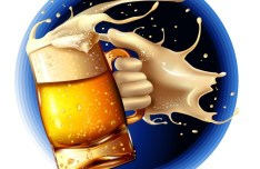 Vector Beer Splash Illustration 02