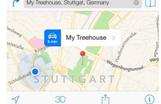 iOS 7 Maps Template PSD