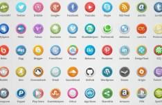 50+ Circular Social Media Buttons