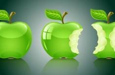 Glossy Green Apples Vector