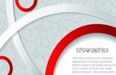 HI-Tech Abstract Infographic Background Vector
