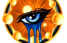 Crying Eyes Vector Illustration