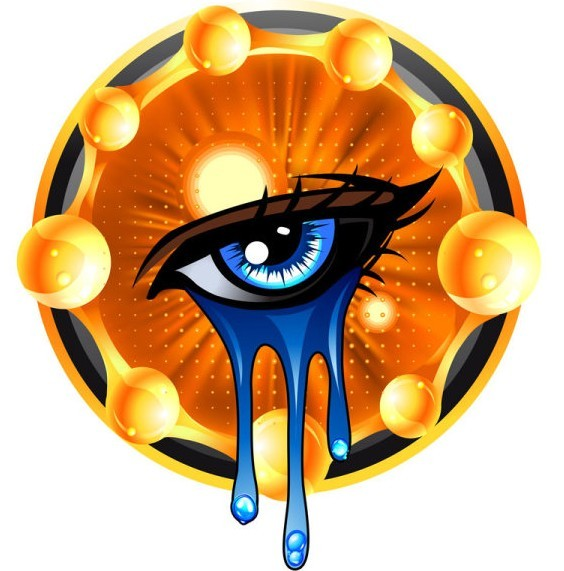 Crying Eyes Vector Illustration