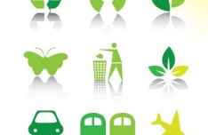ECO Friendly Green Symbol Set Vector 10