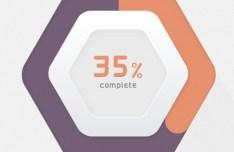 Hexagon Progress Bar PSD