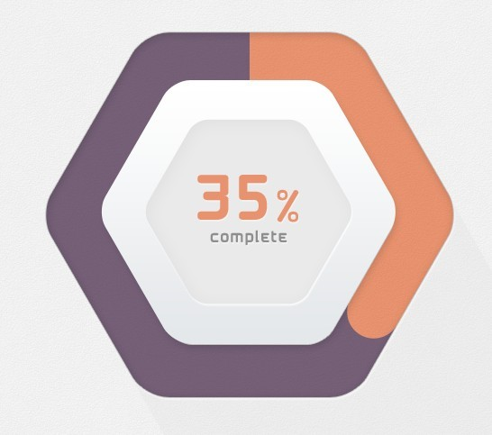 Hexagon Progress Bar PSD