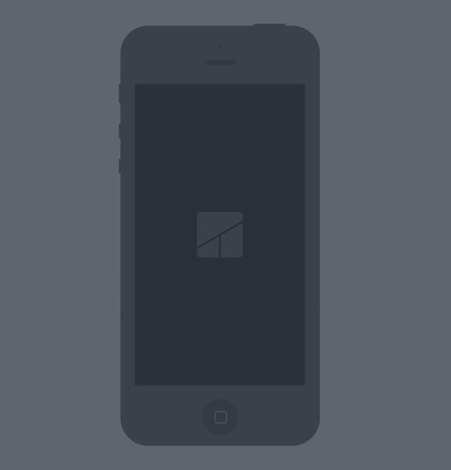 Black iPhone 5 Flat Mockup PSD