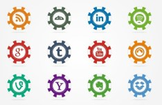 Casino Chips-style Social Media Icons Vector