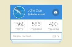 Clean Twitter User Profile Widget PSD