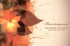 Colorful Watercolor Flower Background Vector 03