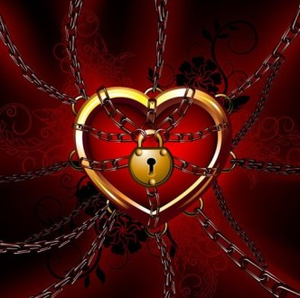 Locked Love Heart Illustration Vector