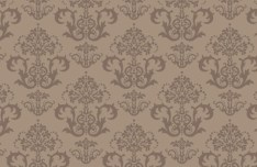 Seamless Brown Vintage Floral Background Vector 01