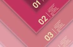 Creative Infographic Number Label Design Vector 02