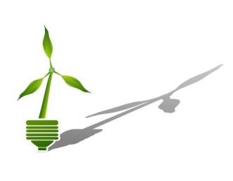 ECO Concept Creative Green Light Bulb Design Vector 02