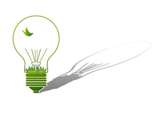 ECO Concept Creative Green Light Bulb Design Vector 03