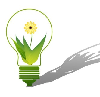 ECO Concept Creative Green Light Bulb Design Vector 04