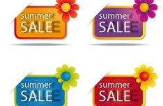 Set Of Colored Hot Summer Sale Labels Vector 02