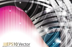 Gorgeous Bright Abstract Waves Background Vector 01