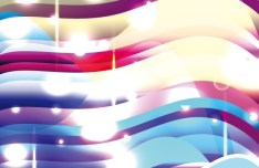 Gorgeous Bright Abstract Waves Background Vector 04