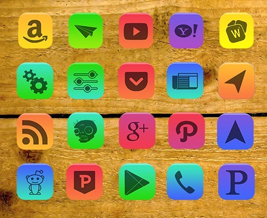 Lumenlite - 80 Colorful App Icons For Android Phone