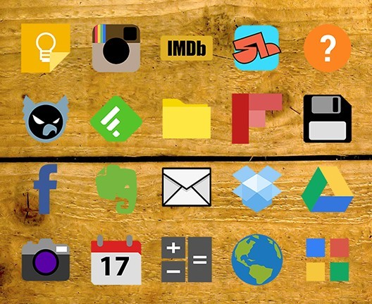 Shapelylite - 80 Colored App Icons For Android Phone