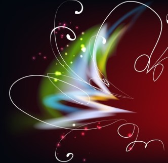 Bright Colorful Abstract Line Flower Background Vector 02