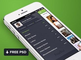 Hulu App UI Desigon For iPhone PSD