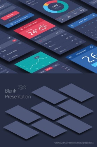 Perspective App & Project Screen Mockups PSD
