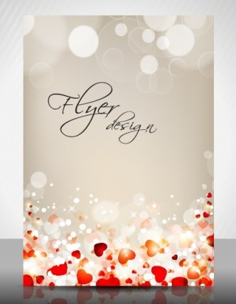 Sweet Valentine's Day Flyer Cover Design Vector