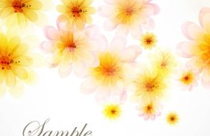 Bright and Fresh Background Flowers Vector 01