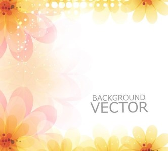 Bright and Fresh Background Flowers Vector 02