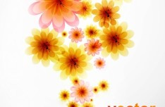 Bright and Fresh Background Flowers Vector 03