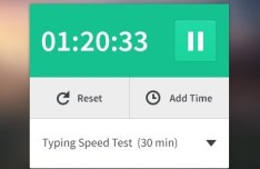 Clean Green and White Timer App Interface PSD