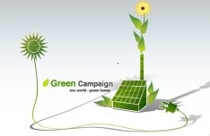 Green ECO World Campaign Green House Vector