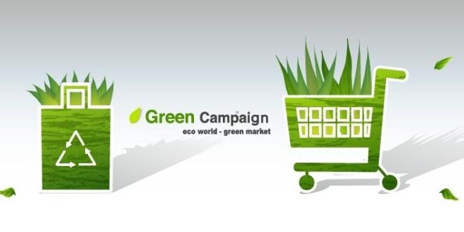 Green ECO World Campaign Green Market Vector