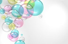 Colored Abstract Water Drops Background Vector 04