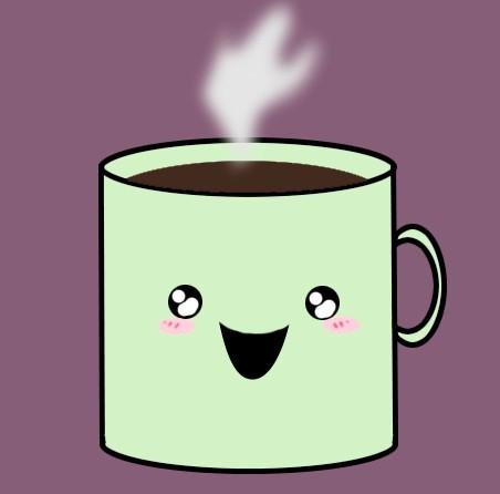 Cute Cartoon Mug PSD