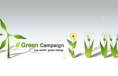 Green ECO World Campaign Green Energy Vector 02