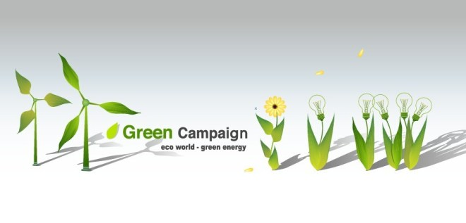 Green ECO World Campaign Green Energy Vector 02