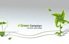Green ECO World Campaign Green Energy Vector 06
