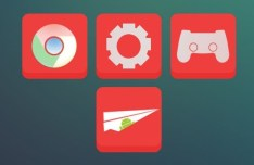 36 Flat Red Web Icons