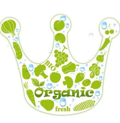 BIO Organic Concept Green Crown Vector