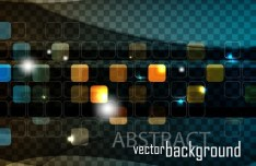 Bright Abstract Squares Technology Background Vector