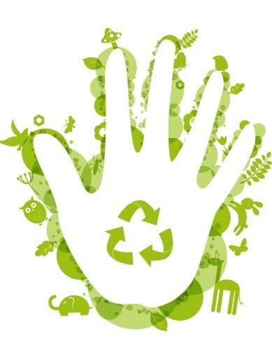 ECO Concept Green Handprint Vector