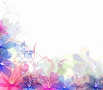 Pastel Flower Background Vector