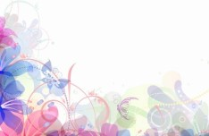 Pastel Flower Background Vector