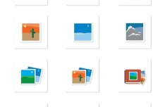 Simple Flat Icons Set Vector