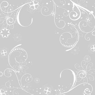 Simple White Flourish Floral Patterns Background Vector